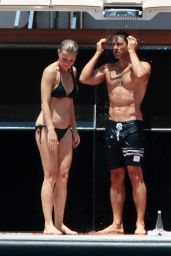 Gwyneth Paltrow in Bikini on a Luxury Yacht in Capri 06/23/2018