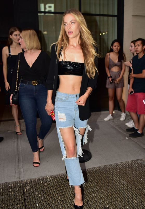Hannah Ferguson in Ripped Jeans - New York 06/20/2018