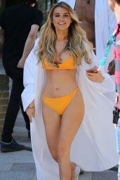 Hayley Hughes in Bikini - Filming Outside ITV Studios in London 06/26/2018