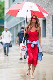 Heidi Klum in Red Night Gown - New York City 06/28/2018