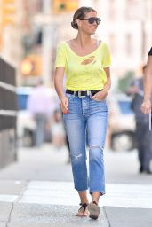 Heidi Klum Street Style - New York City 06/25/2018