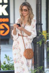 Heidi Klum - Waits for Her Kids Camp Bus in NYC 06/29/2018