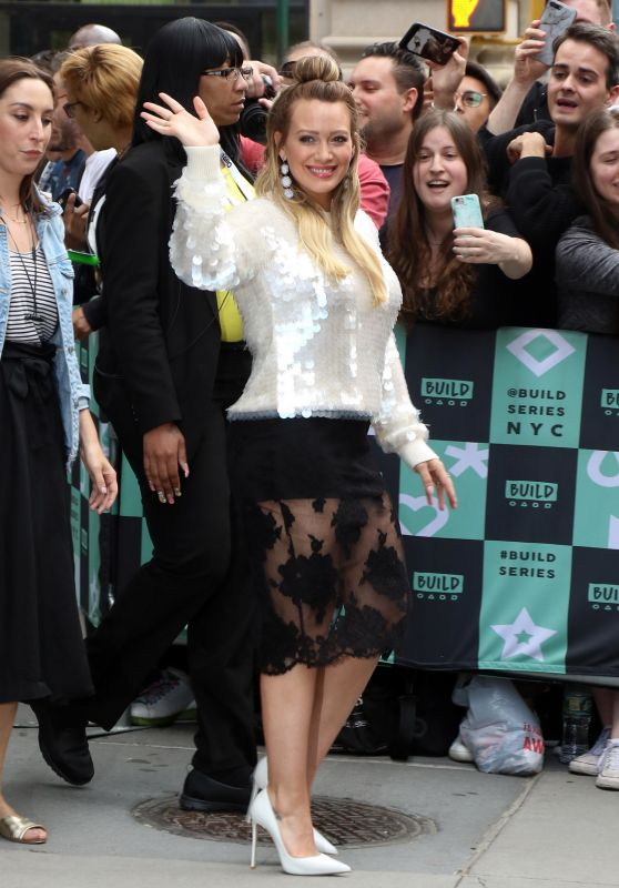 Hilary Duff at BUILD Series in NYC 06/05/2018