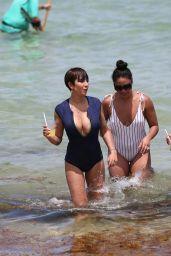 Jackie Cruz in a Plunging Duskii Swimsuit on Miami Beach 06/17/2018