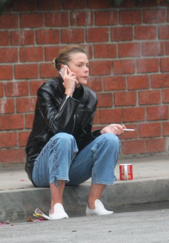 Jaime King - Takes a Cigarette Break Outside a LA Studio 05/31/2018