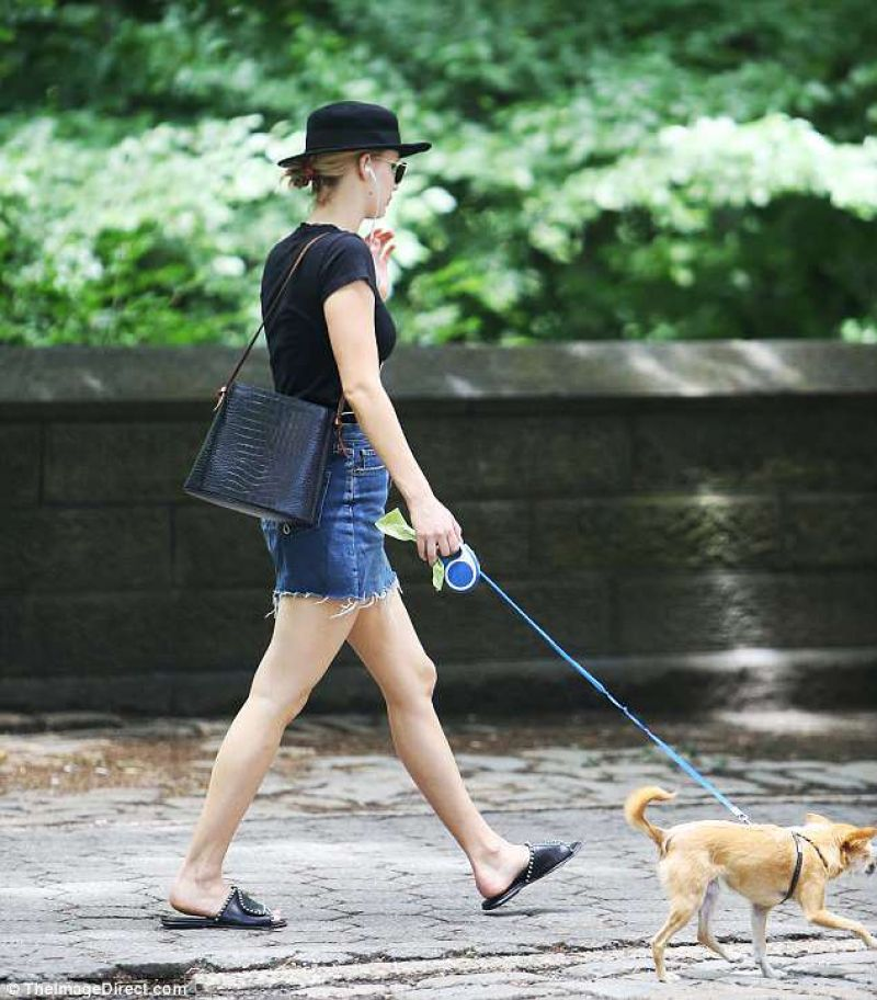 Jennifer Lawrence – Walking Her Dog in NYC 06/25/2018