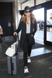 Jessica Alba in Travel Outfit - LAX in LA 06/25/2018