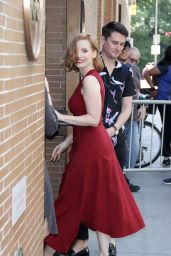 """Jessica Chastain Arriving to Appear on """"The View"""" and BUID Series in NYC 06/26/2018"""