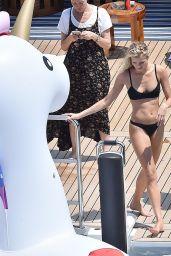 Josie Marie Canseco in a Black Bikini on Holiday in Portofino 06/19/2018