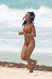 Karrueche Tran in a Brown Bikini On Vacation in Cancun 06/28/2018