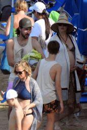 Kate Hudson and Danny Fujikawa at the Beach on Skiathos Island 06/20/2018