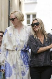 Kate Moss, Kelly Osbourne and Gwendoline Christie in Paris 06/24/2018