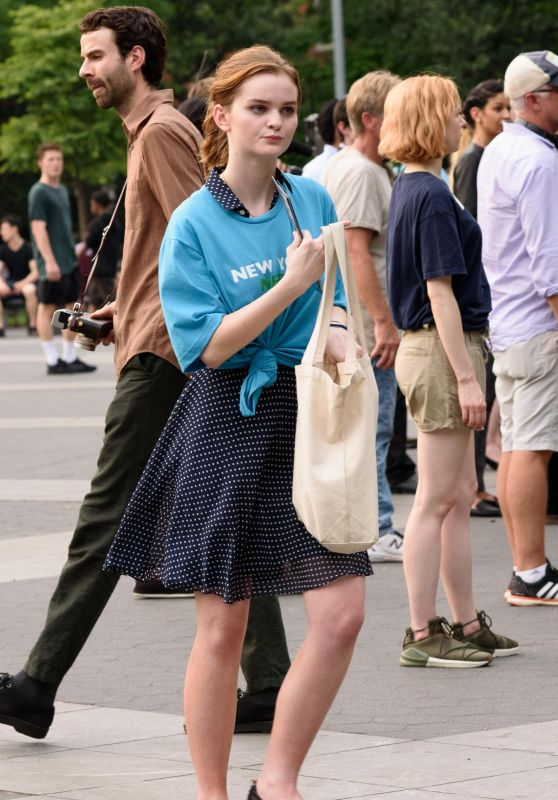 "Kerris Dorsey - On Location With ""Ray Donovan"" at Washington Square Park in NY 06/18/2018"
