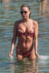 Kimberley Garner in Bikini on the Beach in Mykonos 06/14/2018