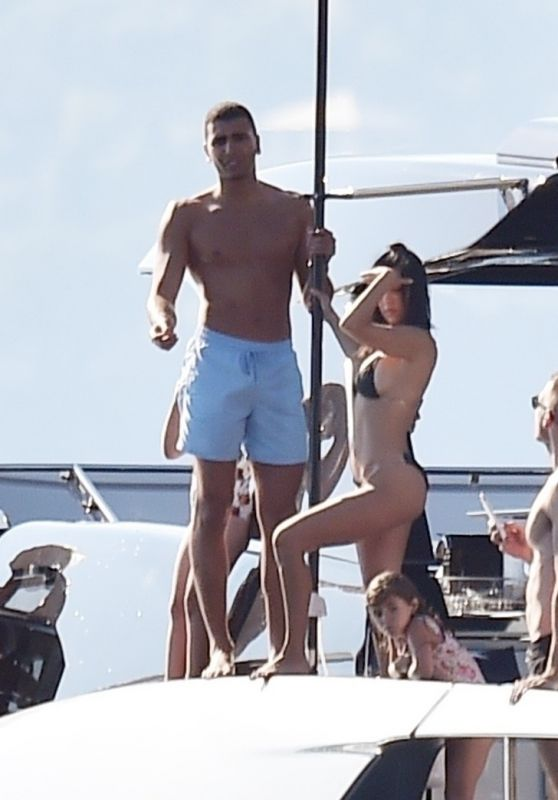 Kourtney Kardashian and Boyfriend Younes Bendjima - Holiday on a Super Yacht in Portofino 06/29/2018