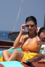 Kourtney Kardashian in Bikini - Holiday in Capri 06/22/2018