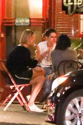 Kristen Stewart and Charlize Theron at a Local Spot in Los Feliz 06/13/2018