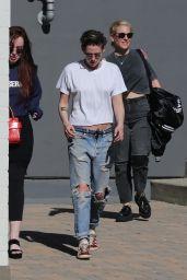 Kristen Stewart in Ripped Jeans - Out in LA 06/11/2018
