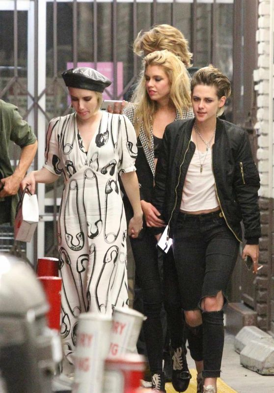 Kristen Stewart, Stella Maxwell and Emma Roberts - Out in Hollywood 06/09/2018