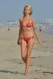 Lady Victoria Hervey in a Red Polka Dot Bikini in Malibu 06/12/2018