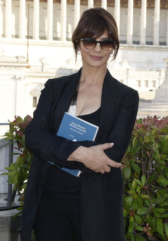 Laura Morante – Brividi Immorali Book Presentation in Rome 06/19/2018