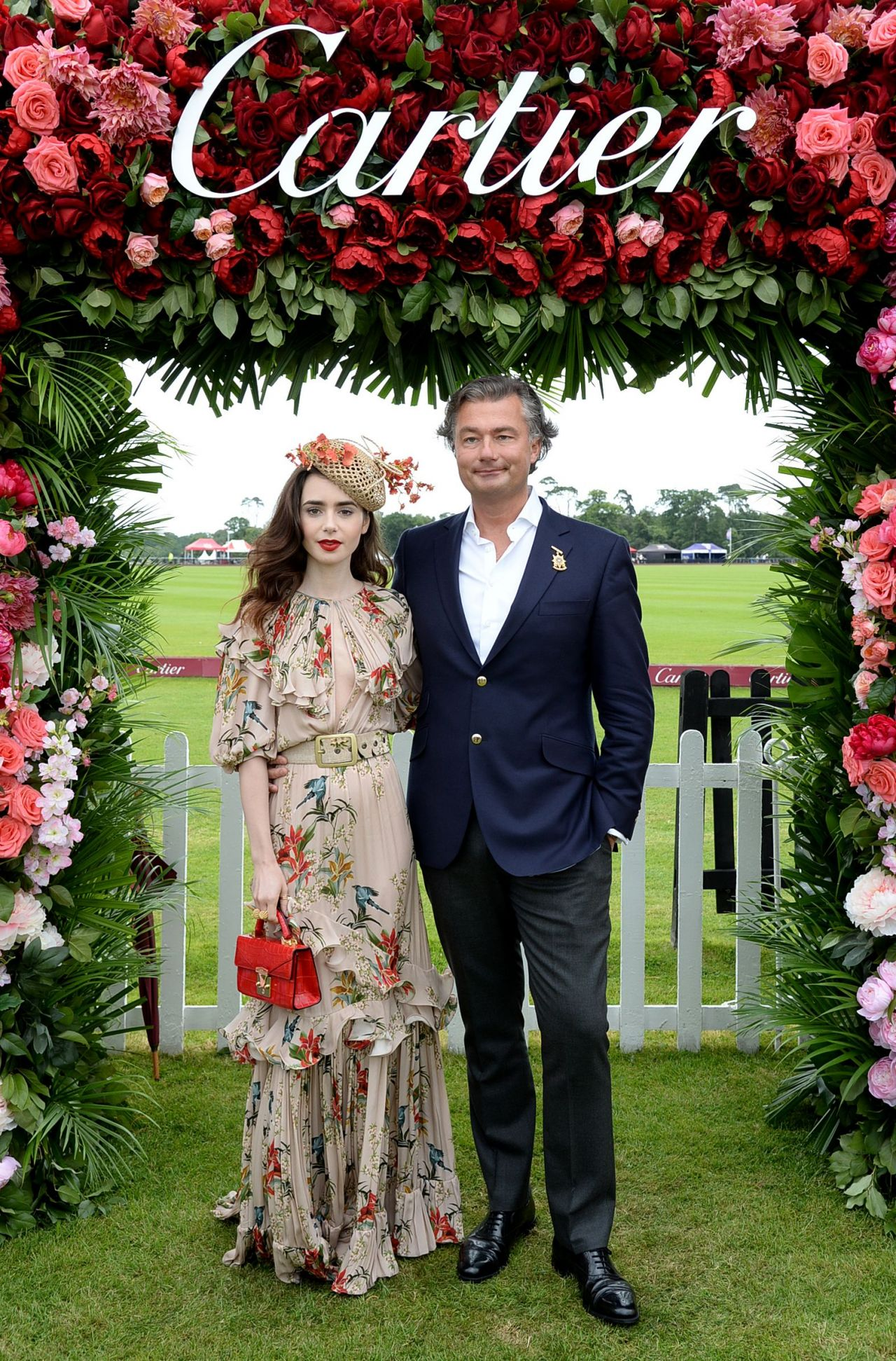 Lily Collins Cartier Queens Cup Polo In Windsor 06 17 2018