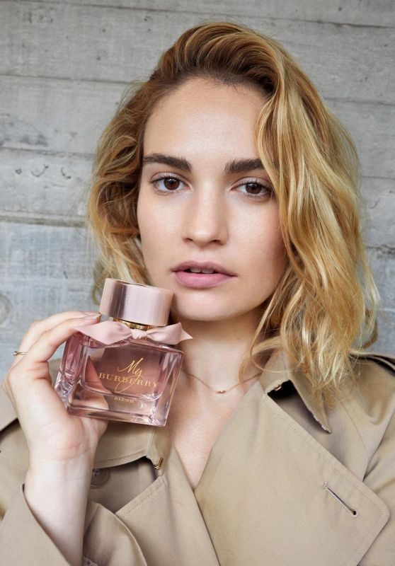 """Lily James - Burberry's """"My Burberry"""" Campaign 06/14/2018"""