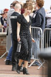 Lily James - Filming in Gorleston On Sea, London 06/27/2018