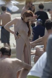 Lindsay Lohan - Relaxes by the Beach Club in Mykonos 06/17/2018