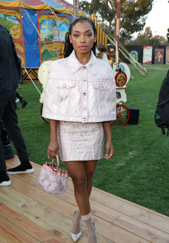 Logan Browning – Moschino S/S 2019 Menswear And Women's Resort Collection in Burbank