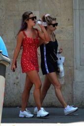 Lottie Moss and Tina Stinnes - Barcelona 06/16/2018