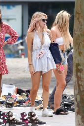 Lottie Moss and Tina Stinnes - Out in Barcelona 06/13/2018