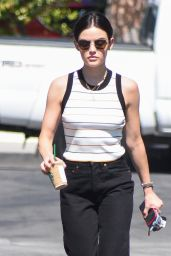 Lucy Hale Casual Style - Coffee Run in Los Angeles 06/26/2018