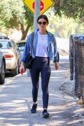 Lucy Hale in Tights at Griffith Park in LA 06/27/2018