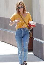 Lucy Hale - Stopping by Coffee Bean in Studio City 06/12/2018
