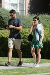 Lucy Hale - Walking With a Friend in Los Angeles 06/27/2018