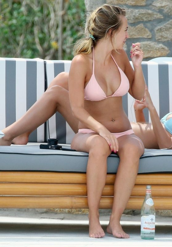 Lucy Watson and Tiffany Watson in Bikinis - Holiday in Mykonos, June 2018