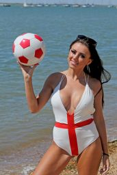 Lydia Lucy in Swimsuit on the Beach at Leigh on Sea Essex 06/26/2018