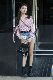 Madison Beer Leggy in a Pair of Daisy Dukes - Shopping at XIV Karats in Beverly Hills 06/18/2018