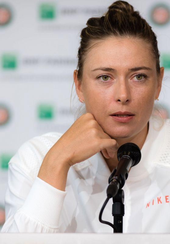 Maria Sharapova - Talks to the Media at Roland Garros in Paris 06/02/2018