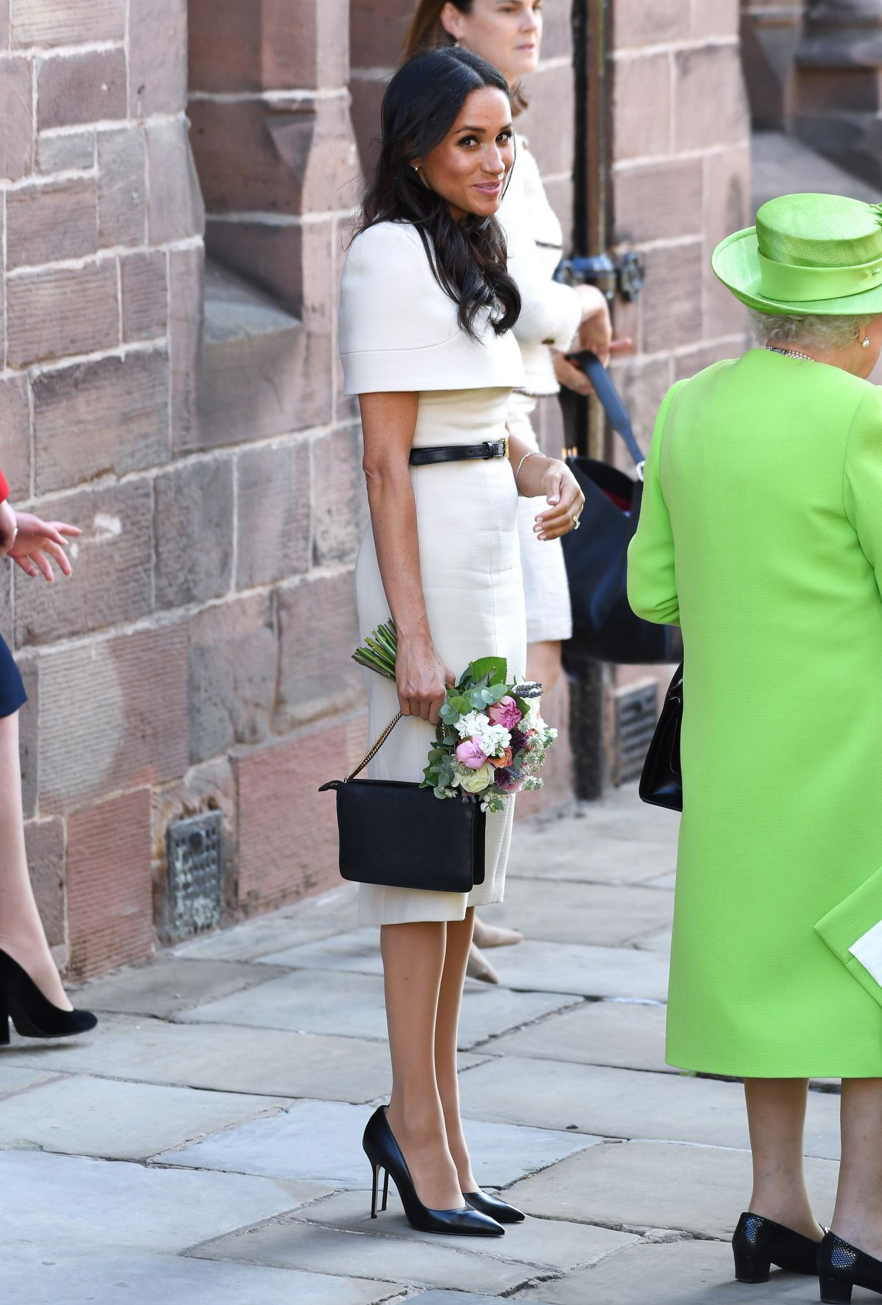 meghan markle  the duchess of sussex  and queen elizabeth ii first solo outing 06  14  2018