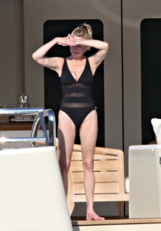 Melanie Griffith - With Friends on a Boat in Sardinia 06/20/2018
