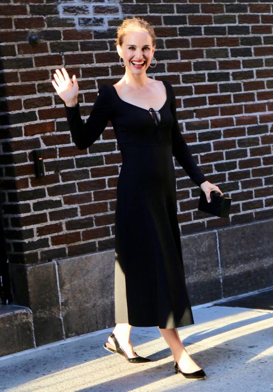 Natalie Portman - Exiting the Stephen Colbert Show in NYC 06/14/2018