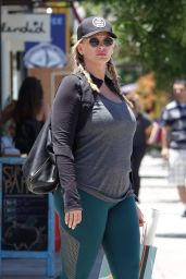 Natasha Henstridge in Tights - Shopping in Los Angeles 06/11/2018