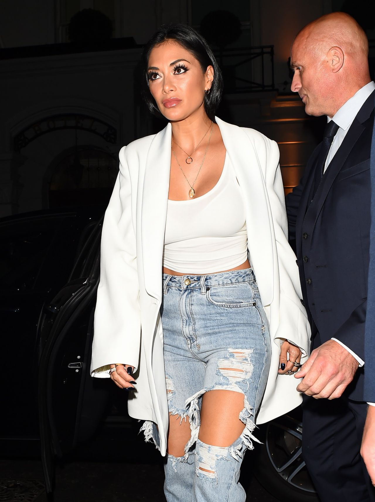 Nicole Scherzinger – Celebrates Her 40th Birthday at Bagotelle Restaurant in London