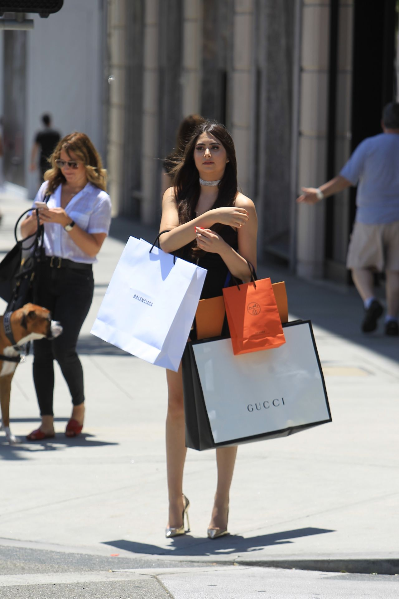 Nicolette Gray Shopping On Rodeo Drive In Beverly Hills