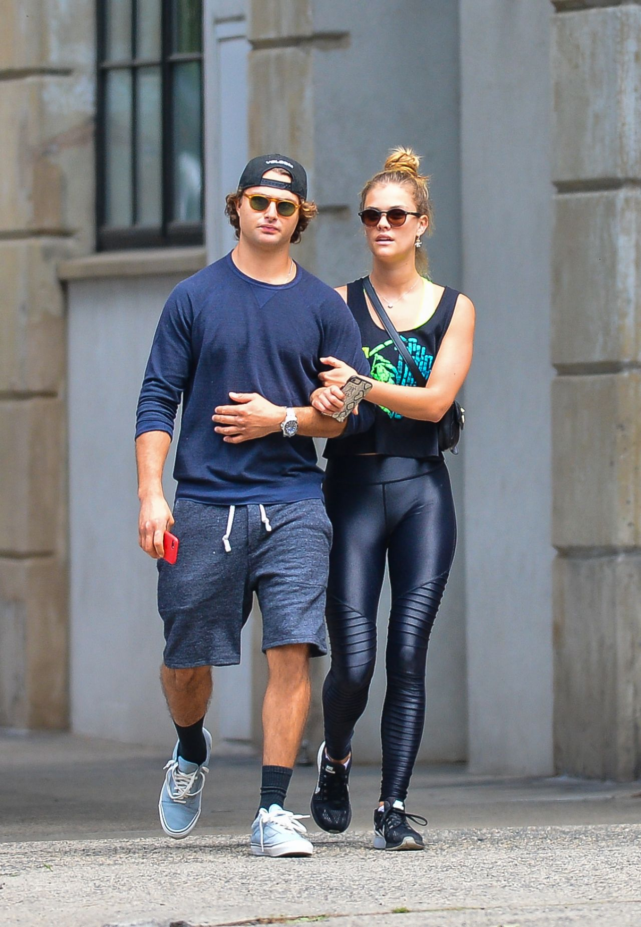 Nina Agdal With Her Boyfriend Jack Brinkley-Cook - Leaving