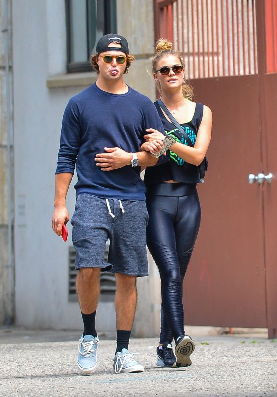 Nina Agdal With Her Boyfriend Jack Brinkley-Cook - Leaving the Gym in NYC 06/08/2018