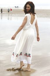 Olga Kurylenko - 32nd Cabourg Film Festival Photo Session on the Beach