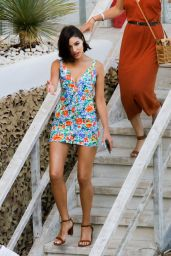 Olivia Culpo in Mini Dress - Out for Lunch at Amante Beach Club in Ibiza 06/29/2018